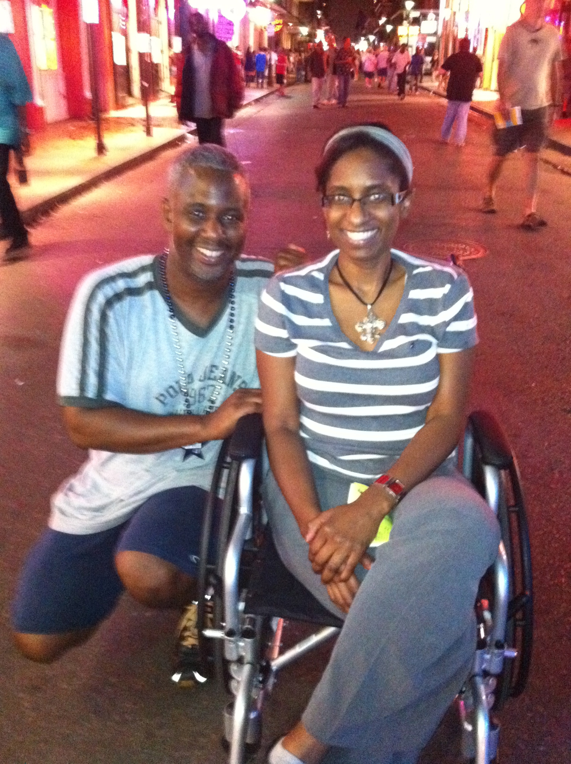 We Always Have Fun on Bourbon Street. R.I.P. 1st wheelchair