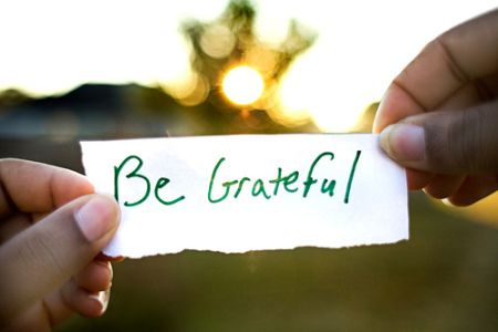 """When you are grateful fear disappears and abundance appears"" - Anthony Robbins"